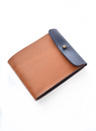 Young British Designers: Pley Billfold Wallet in Tan/Elephant by M.Hulot