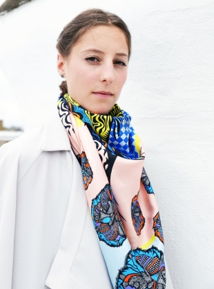 Young British Designers: The Lion's Eye Scarf in Mountain Yellow - last one by Bella Singleton