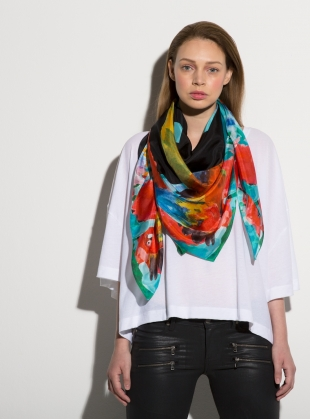 PARROT DREAMS- LUXE SILK SCARF by ED-LONDON