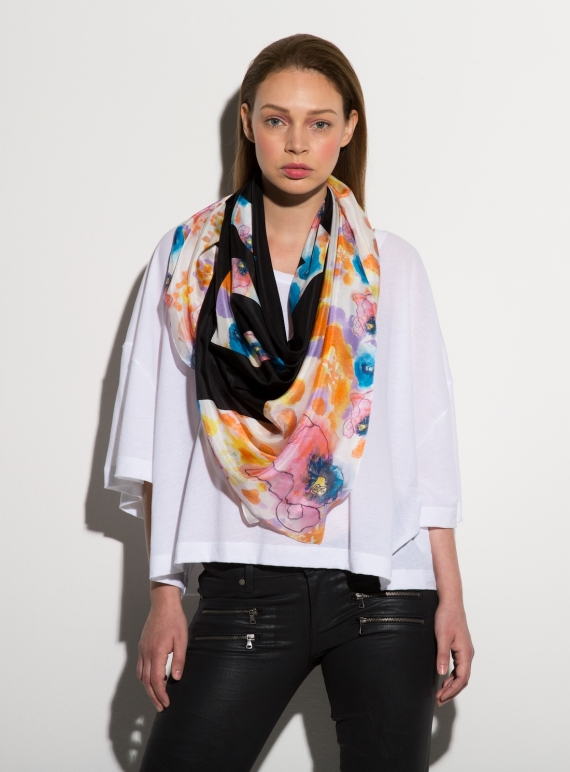 Young British Designers: ED POP- LUXE SILK SCARF by ED-LONDON