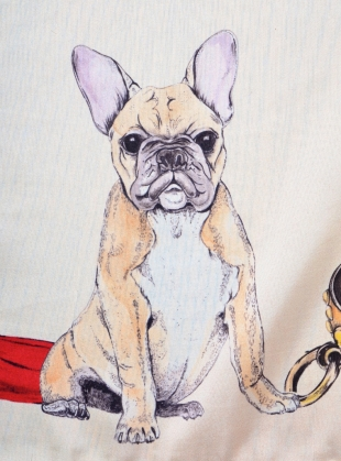 Young British Designers: Good Boy Square Silk Scarf featuring Ted - last one by Klements