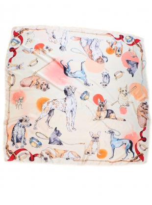 Good Boy Square Silk Scarf featuring Ted - last one by Klements