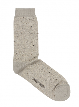 Solline Metallic Cotton Silk Socks in Natural by Genevieve Sweeney