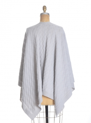 Young British Designers: The Albion Geometric Cable Cashmere Wrap in Dove - Last one by Lou Dungate