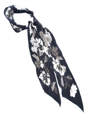 SUPER SKINNY SCARF IN FLORA MONOCHROME - last one by Rockins