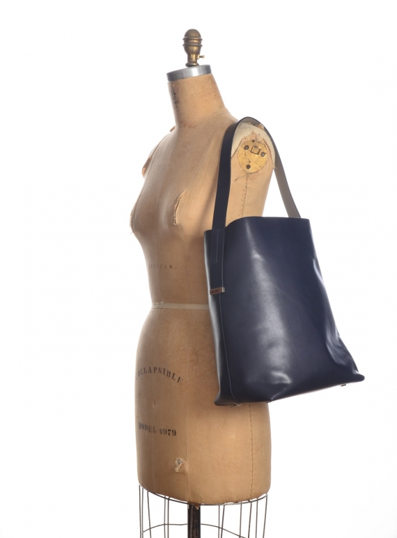 Young British Designers: NOA HOBO BAG IN NAVY  by GVYN