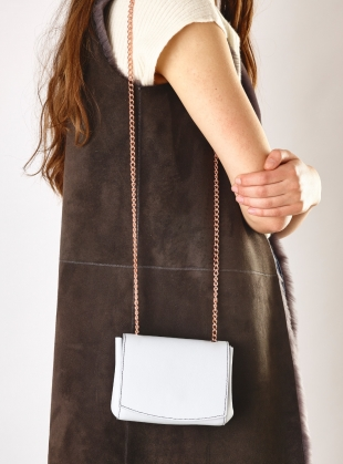 Leather Micro Bag in Pale Grey - last one by Baia Bags