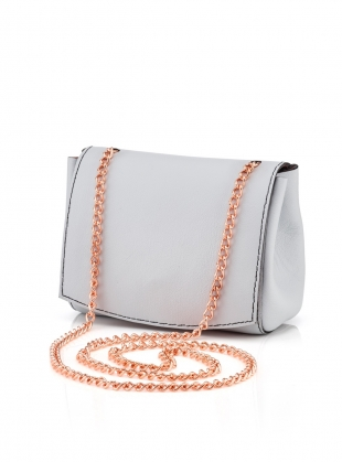 Young British Designers: Leather Micro Bag in Pale Grey - last one by Baia Bags