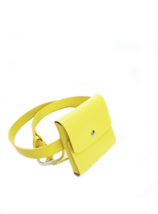 YELLOW LEATHER BUM BAG- last one  by Kirsty Ward