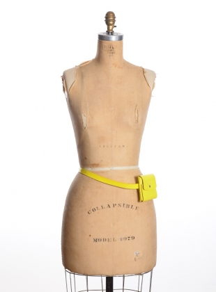 Young British Designers: YELLOW LEATHER BUM BAG- last one  by Kirsty Ward
