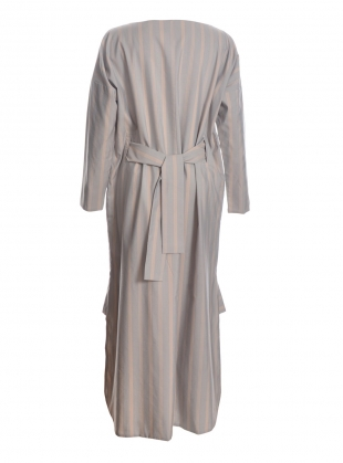 Young British Designers: Boat Neck Dress in Soft Grey Blue - Last one by Renli Su