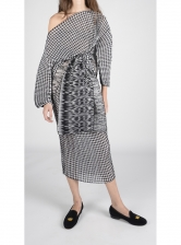 Gabriella Dress In Abstract Snakeskin - last one