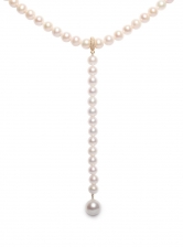 XL Pearl Lariat Necklace - Last one