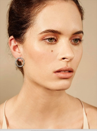 Hula Hoop Earrings  by Maha Lozi