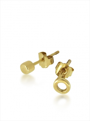 Gold Hug Studs by Maya Magal