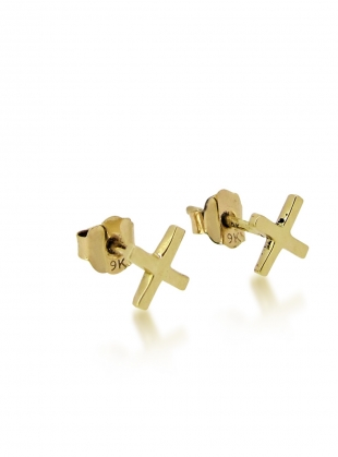 KISSES STUDS IN GOLD by Maya Magal