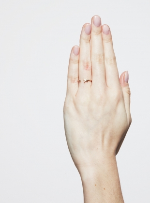 Young British Designers: KISSES RING with Diamond by Maya Magal