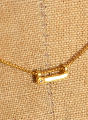 Young British Designers: DIAMOND MINI LINE PENDANT by Mei-Li Rose