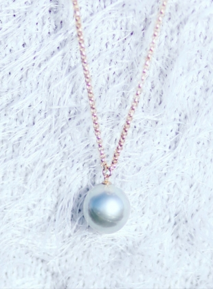 Young British Designers: XXL Grey Pearl Pendant - last one by Ora Pearls