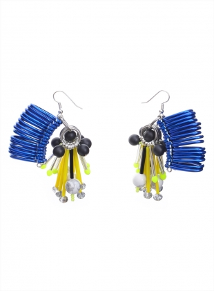 EMBELLISHED BLUE EARRINGS by Kirsty Ward