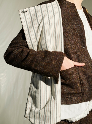 Young British Designers: Harris Tweed & Japanese Cotton Jacket by Renli Su