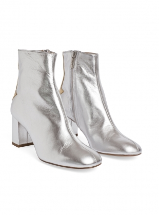 Young British Designers: SILVER LINING ANKLE BOOTS by Camilla Elphick