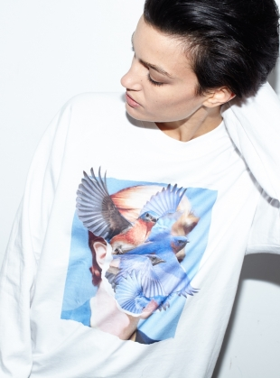 Young British Designers: Long Sleeved Bowie Tee by Simeon Farrar