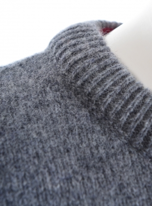 Young British Designers: Rea Slouch Jumper with Side Splits in Grey Melange - Last one by Genevieve Sweeney