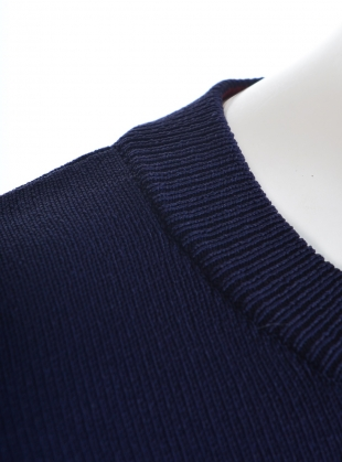 Young British Designers: Celine Lightweight Boxy Jumper in Navy by Genevieve Sweeney