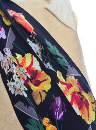 Young British Designers: FLORA SUPER SKINNY Scarf in Black - Last one by Rockins
