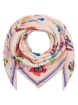 LARGE SILK SCARF in Floral Explosion by Klements