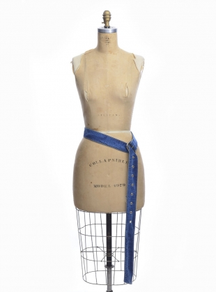 Young British Designers: Recycled Denim Buckle Belt  by Faustine Steinmetz
