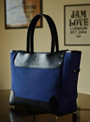 The SHIBURA Tote in Blueberry by Jam Love London