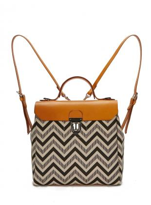 Hillside Urban Backpack in Tan/Chevron - Last one by Jam Love London
