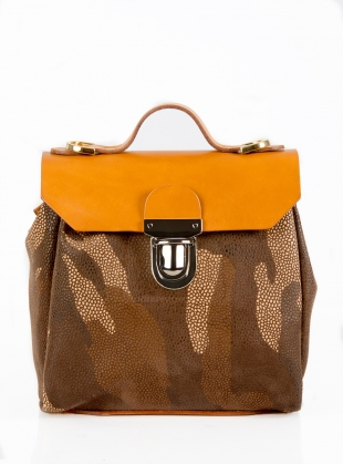 Hillmini Urban Messenger in Tan Camouflage - last one by Jam Love London