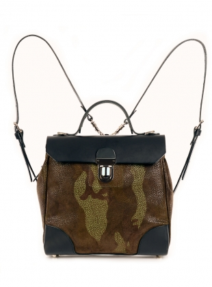 Hillside Urban Backpack in Black Green Camouflage by Jam Love London