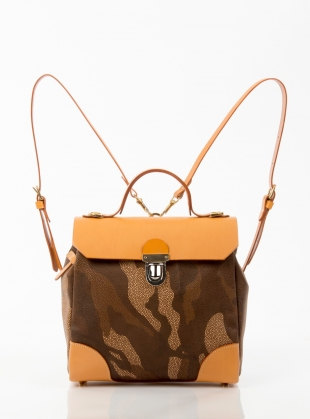 Hillside Urban Backpack in Tan Camouflage - Last one by Jam Love London