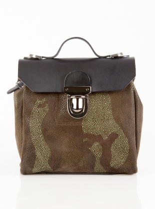 Hillmini Urban Messenger in Black Green Camouflage by Jam Love London