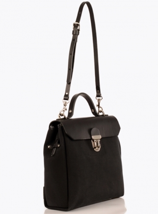 Young British Designers: Hillside Urban Backpack In Black Swan - sold out by Jam Love London