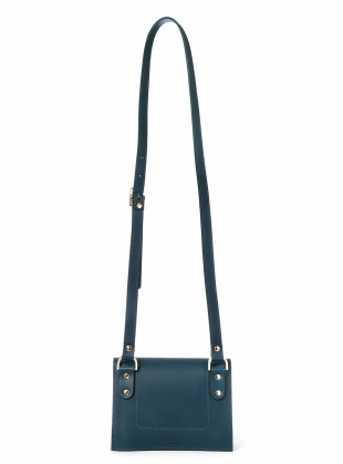 Young British Designers: CHARLIE Box in Petrol Blue Leather by Danielle Foster