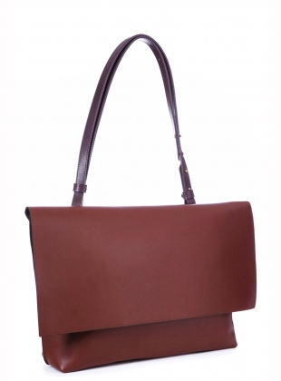 MARA Shoulder Bag in Almond by Danielle Foster