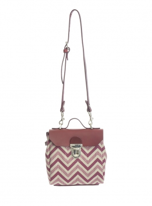 Hillmini Messenger Bag in Burgundy Chevron  by Jam Love London