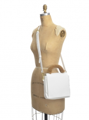 LOKI 3 POCKET CROSSBODY BAG in White Pebbled Leather by Romy LDN