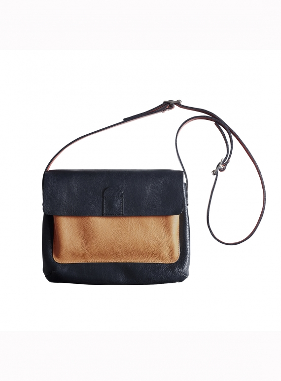 Young British Designers: DIPLO Satchel- Navy/Nude/Red - Last one by M.Hulot