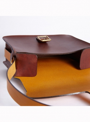 Young British Designers: ARAU Satchel- Tan/Yellow Ochre by M.Hulot