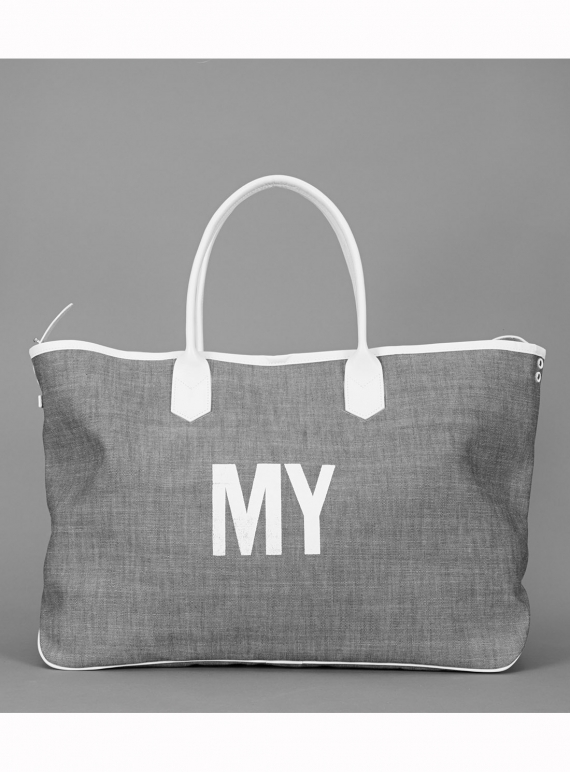 Young British Designers: MY Travel Tote in Blue Chambray by Jam Love London