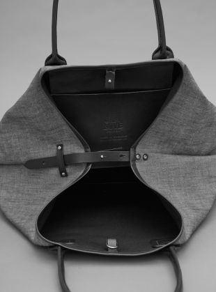 Young British Designers: MY Travel Tote in Grey Chambray by Jam Love London