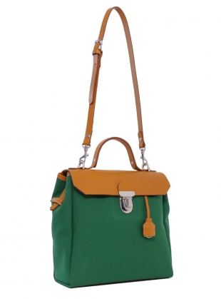 Hillview Zipper Backpack in Avocado - last one by Jam Love London