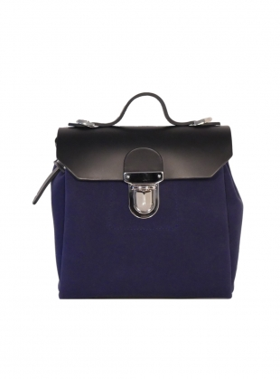 Hillmini Messenger Backpack in Blueberry  by Jam Love London