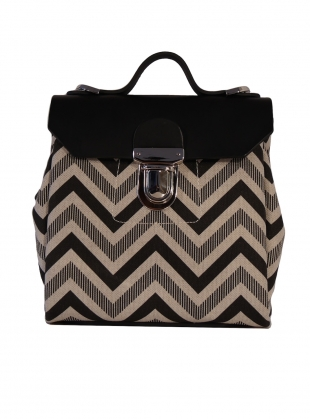 Hillmini Messenger Bag in Black Chevron - last one by Jam Love London